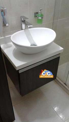 Se vende muebles de baño modernos flotantes y de piso, closet y vestier,