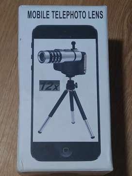 Lente Zoom Clip x12 Universal para todos los celulares
