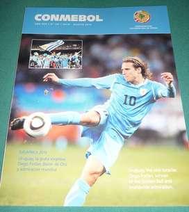 MUY BUENA REVISTA CONMEBOL NRO 120 FORLAN URUGUAY MUNDIAL SUDAFRICA 2010 ESPAÑA CAMPEON