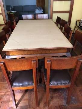 Comedor grande Vintage 12 sillas