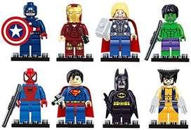 Muñecos Super Heroes Tipo Leg X 8 Personajes