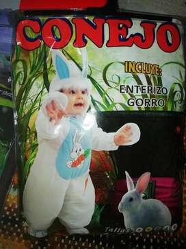 Disfraz de Conejo 6 a 12 Meses