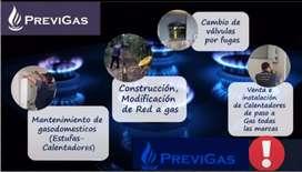 Calentador de Agua a Gas y Redes de Gas Certificadas ante Epm