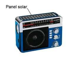 Radio SONIVOX con panel solar, bluetooth y ranura USB y Micro-SD NUEVO