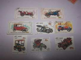 estampillas de autos antiguos