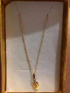 Cadena oro italiano 18k , ley 750, 50cm, 1.1 gramos NUEVA