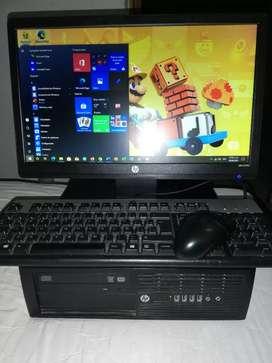 Computador HP Intel i3 Tercera generación totalmente original, 4gb ram Ddr3, disco duro 500gb, pantalla 19 pulgadas