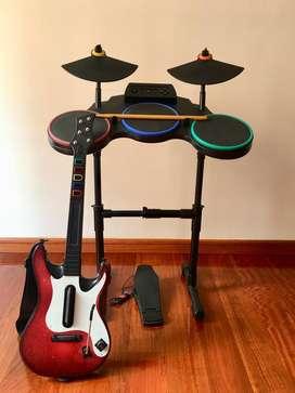Guitar hero world tour PS3 con instrumentos
