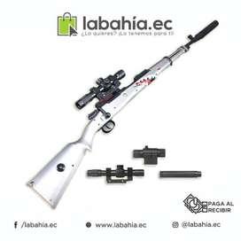 Rifle sniper balas de gel tiburón Pubg y Fortnite