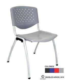 Silla de espera modelo prisma, silla fija, silla apilablePRECIO X MAYOR