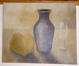 Oleo sobre lienzo Bodegón 60 x 50 cm 340.000
