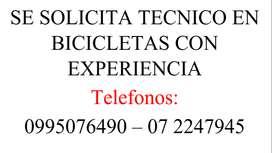 TÉCNICO EN BICICLETAS