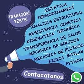 ESTATICA DINAMICA RESISTENCIA ANALISIS ESTRUCTURAL MECANICA SOLIDOS MATLAB CINEMATICA CINETICA FISICA