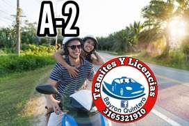 Licencia moto categoria A2 Cali Jamundi (Bayron Quintero)