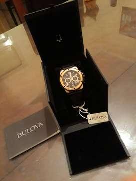 Reloj Bulova Hombre 98b104 Marine Star Gold