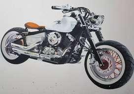 Motocicletas al Óleo