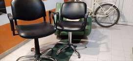 Se vende lava cabezas y dos juegos de sillas para corte