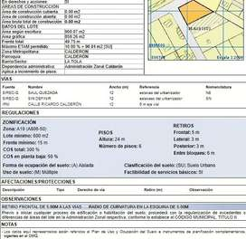 900.07 Mtrs2 IRM Múltiple Terreno Sector Hospital Docente de Calderón