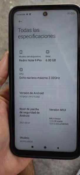 Redmi Note 9 Pro 128gb 6 ram, 64Mp