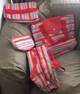 Set x  4 bolso de viaje nuevos