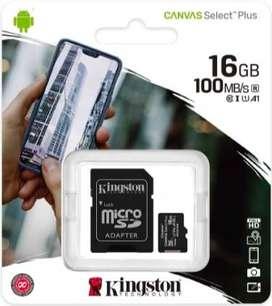 MEMORIA MICRO SD DE 16 GB KINGSTON 100% ORIGINAL