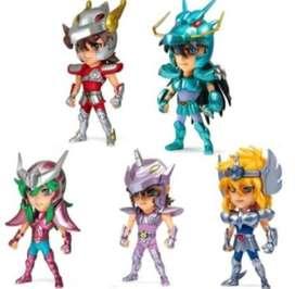 Figuras Muñecos Caballero Del Zodiaco X 5 Set 10cm
