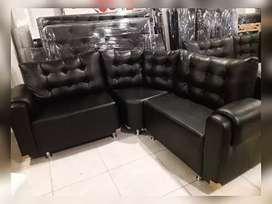 Sofá Negro de 3 Modulos