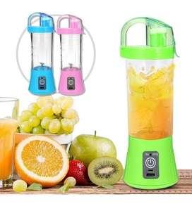Licuadora Personal Recargable Usb Vaso De 380 Ml Frutas Verduras