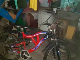 Bicicleta montañera doble suspension