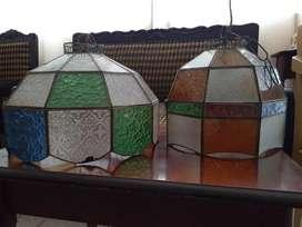 Hp antiguas lámparas vitrales colgantes