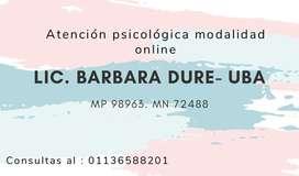 Lic. En psicología UBA