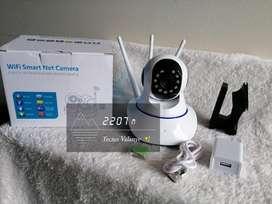 Cámara Robótica 3 antenas Smart net camera para inferiores con sensor de movimiento, sonido y Visión nocturna