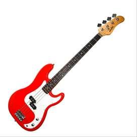 Bajo Konige LPB4RD Music Box Colombia Electrico precision con cable Rojo  4C