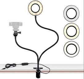 aro de luz con soporte para celular