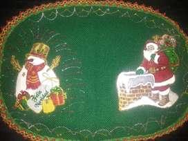 Individuales navideños para mesa de 6 puestos