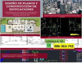 PLANOS DE VIVIENDAS, EDIFICACIONES (ARQUITECTURA, ESTRUCCTURA, ELECTRICAS, SANITARIAS)