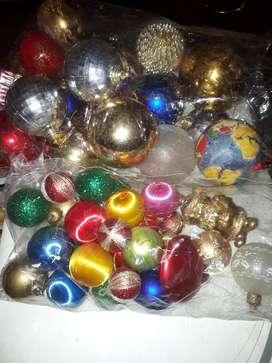Vendo lote adornos navideños.