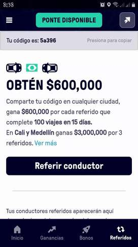 Conductores con vehiculo para referir