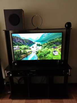 Motivo viaje: Negociable: Combo televisor, teatro en casa y centro de entretenimiento.
