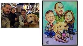 Retratos Dibujos Caricaturas para tu familia