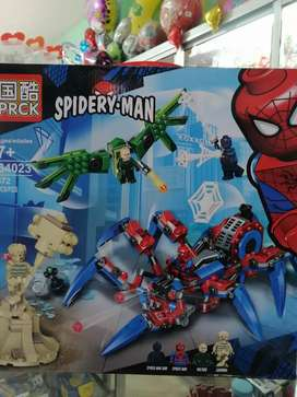 Lego Spiderman VS Vulture y Sandman