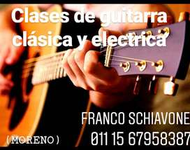 Clases de Guitarra en  Moreno
