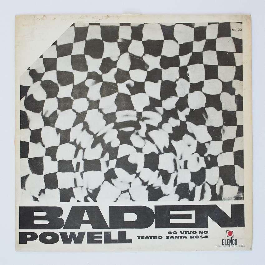 Baden Powell ao vivo no Teatro Santa Rosa Trova LP Vinilo Bossa Nova Jazz Blues 0