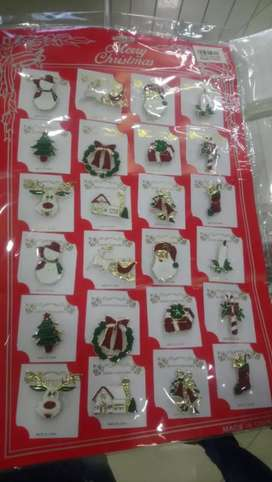 Prendedores navideños