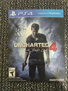 UNCHARTED 4 FÍSICO: A Thief's end edition Ps4