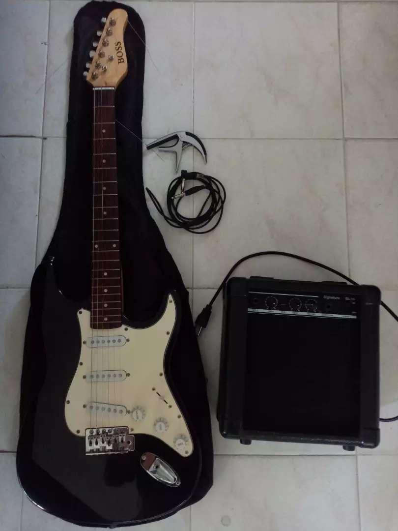 Guitarra eléctrica hermosa