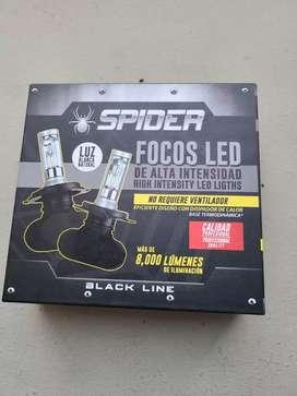 Luces LED H4 de 6000k marca spider nuevas