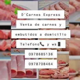 Vendo carnes a domicilio