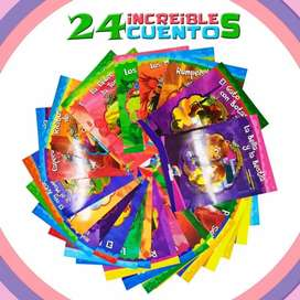 Libros Infantiles Cuentos Guardería Escolar X24 Didácticos. Pago contra entrega. Recibe en casa