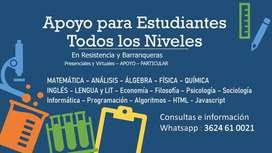 CLASES DE APOYO PROFESORES PARTICULARES TODAS LAS MATERIAS